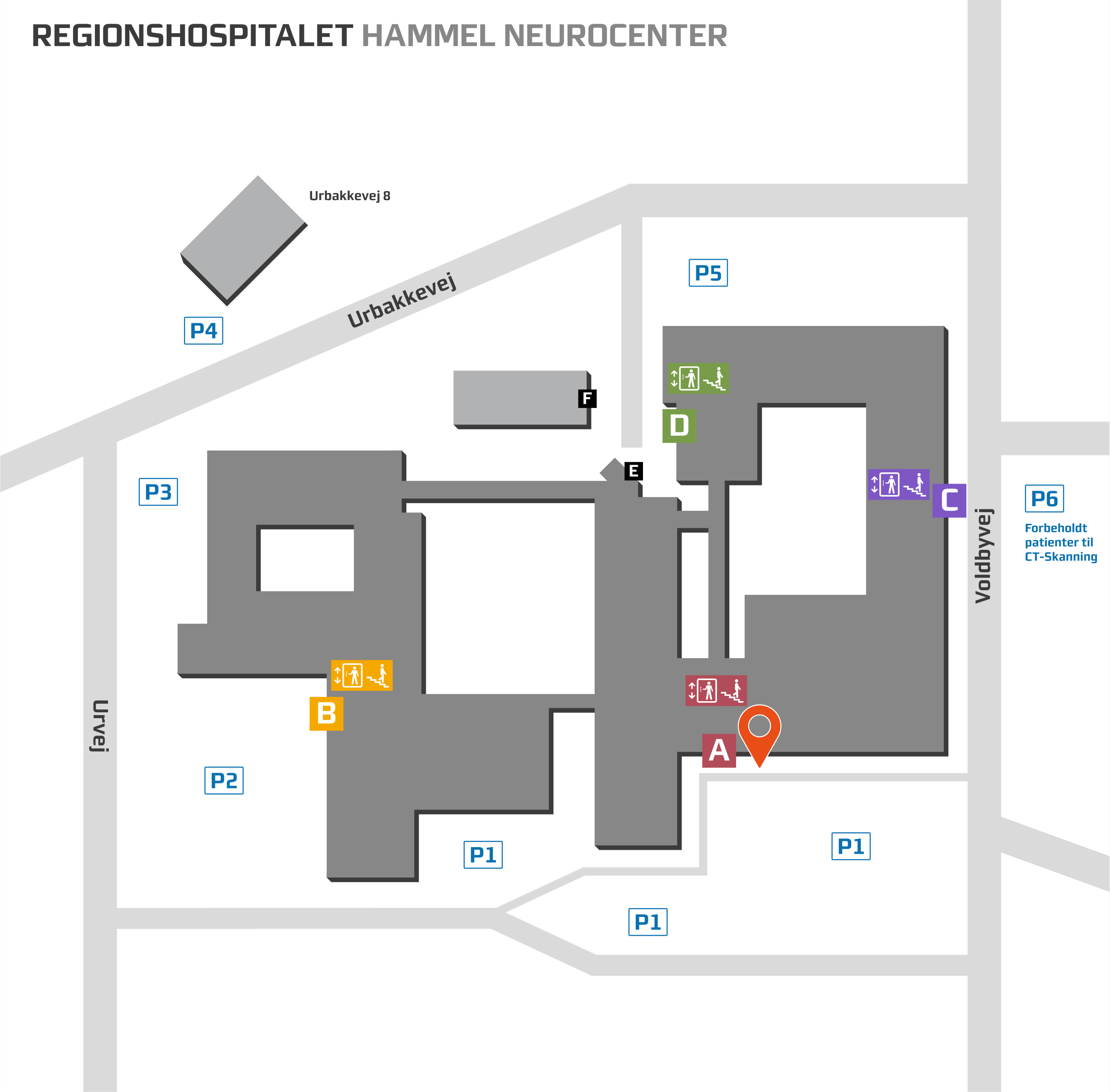 Oversigtskort over Hammel Neurocenter