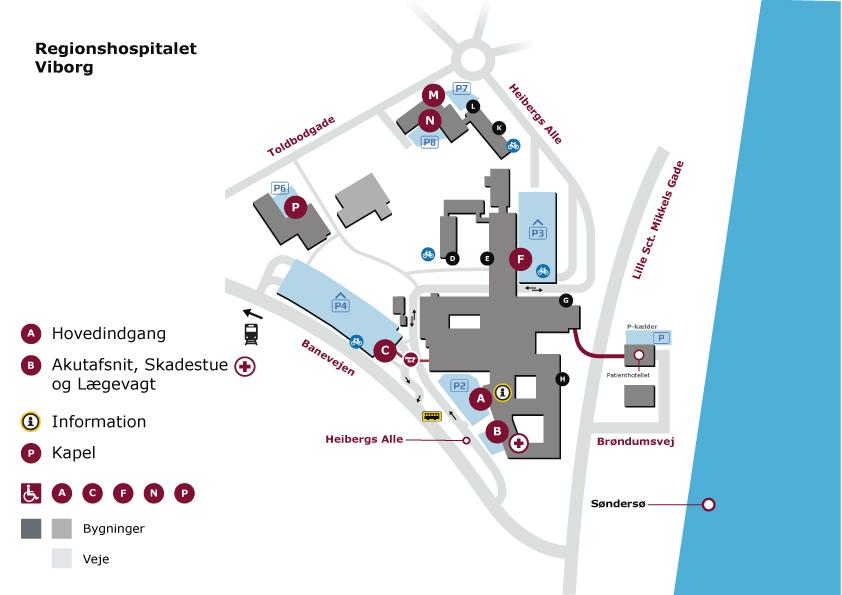 Find Vej Oversigtskort Regionshospitalet Viborg